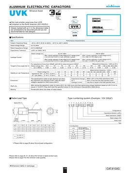 Nichicon UVK Series Aluminum Electrolytic Capacitors