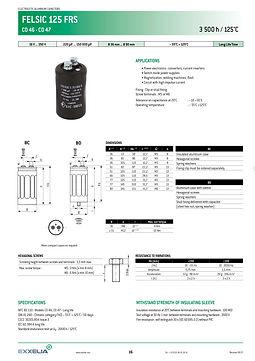 SIC SAFCO FELSIC 125 FRS Series Aluminum Capacitors