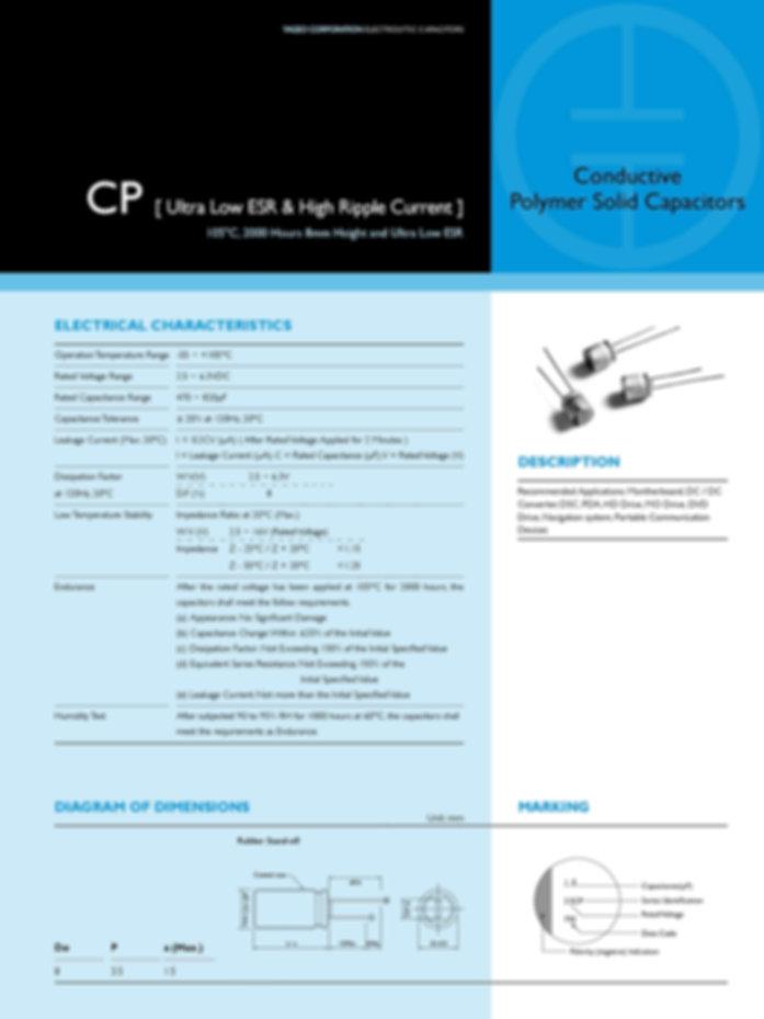 Yageo CP Series Aluminum Capacitors