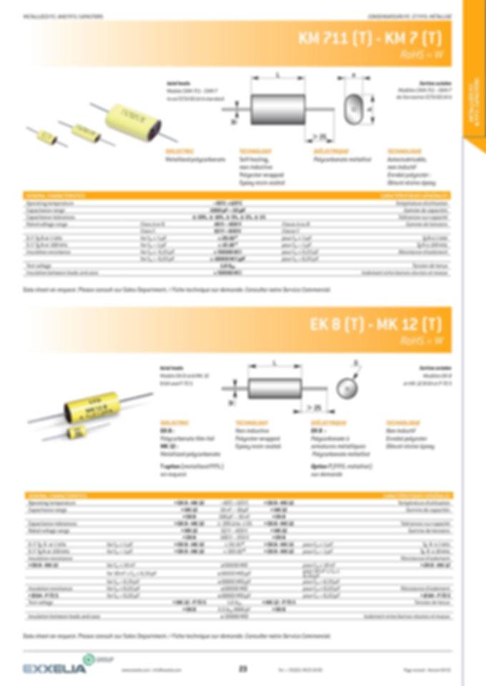 Exxelia KM 7 Series Film Capacitors