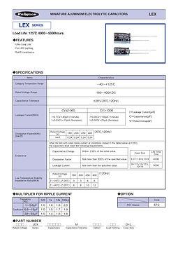 Rubycon LEX Series Radial Aluminum Electrolytic Capacitors