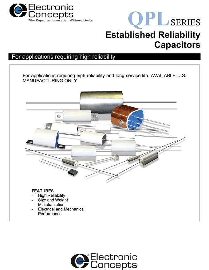Electronic Concepts QPL Series High Reliability Capacitors