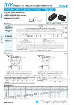 Elna RYK Series Aluminum Electrolytic Capacitors