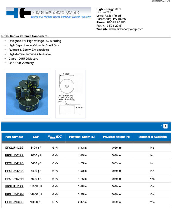 High Energy Corp. EPSL Series