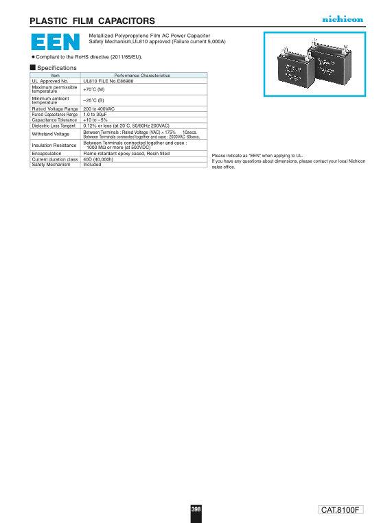 Nichicon EEN Series Plastic Film Capacitors