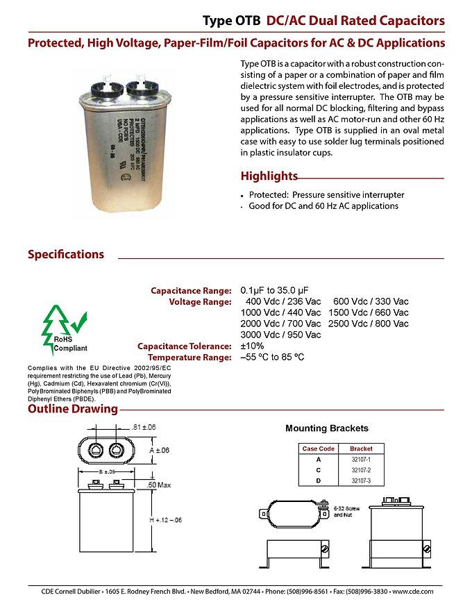 CDE Type OTB Film Capacitors