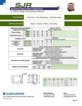 Illinois Capacitor SJR Series Aluminum Electrolytic Capacitor