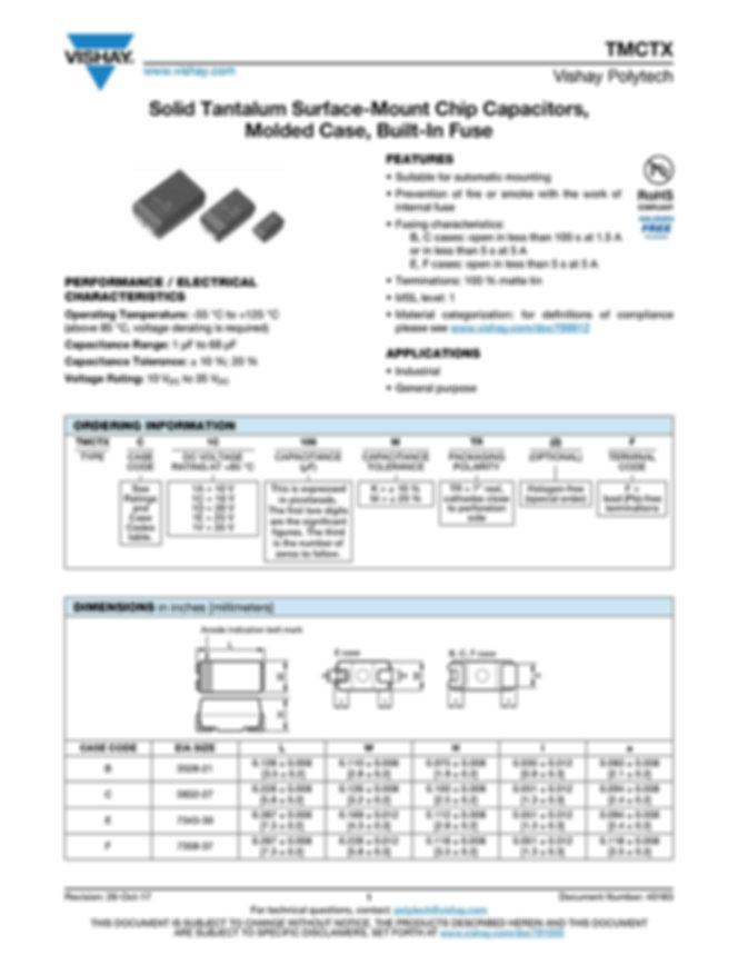 Vishay TMCTX Series Tantalum Capacitors