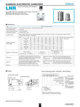 Nichicon LNR Series Aluminum Capacitors