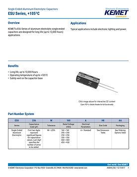 KEMET ESU Series Aluminum Capacitors