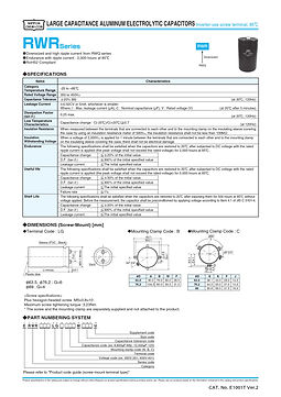 Nippon Chemi Con RWR Series Aluminum Electrolytic Capacitors