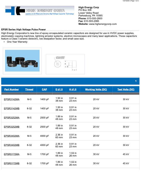 High Energy EPSR Series