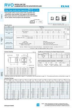 Elna RVO Series Aluminum Electrolytic Capacitors