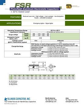 Illinois Capacitor FSR Series Radial Aluminum Electrolytic Capacitors