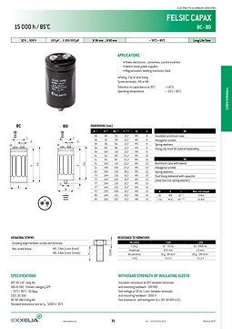 SIC SAFCO FELSIC CAPAX Aluminum Electrolytic Capacitors