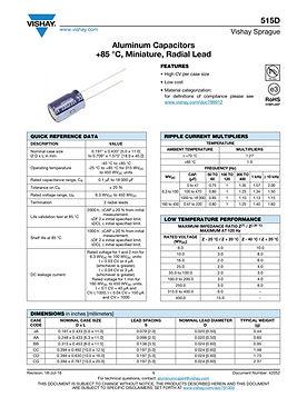 Vishay 515D Series Radial Aluminum Electrolytic Capacitors