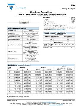 Vishay 30D Series Axial Aluminum Electrolytic Capacitors