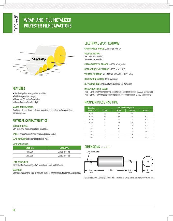 Exxelia 442P Series Plastic Film Capacitors