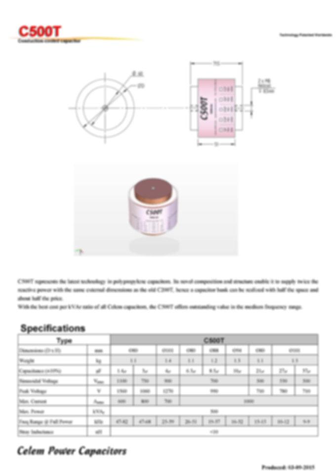 Celem C500T Series Film Capacitors