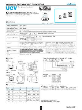 Nichicon UCV Series Aluminum Capacitors