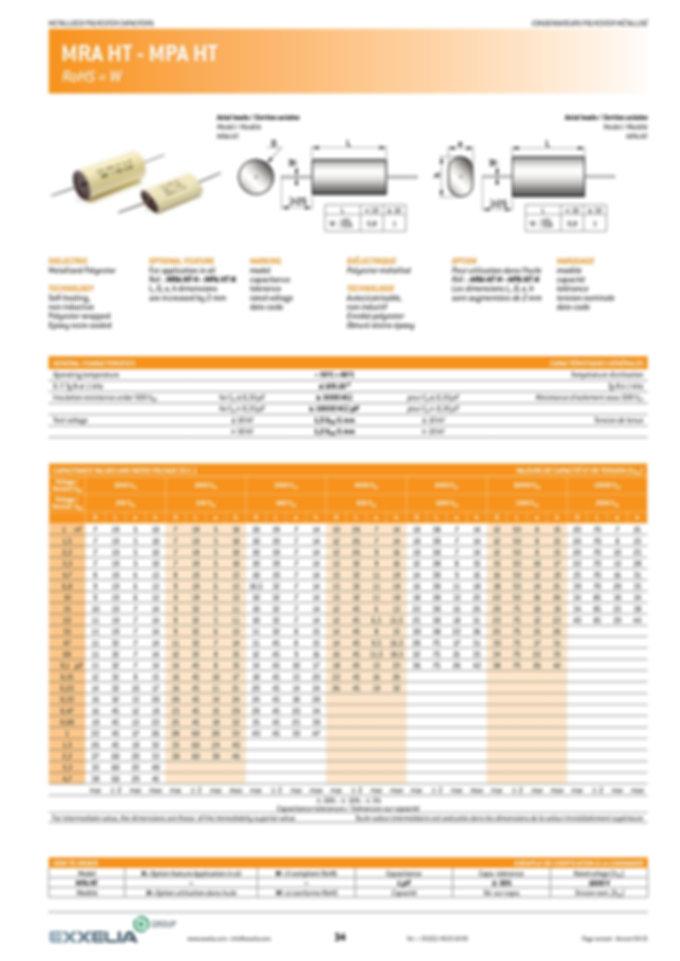 Exxelia MPA/MRA Series Film Capacitors