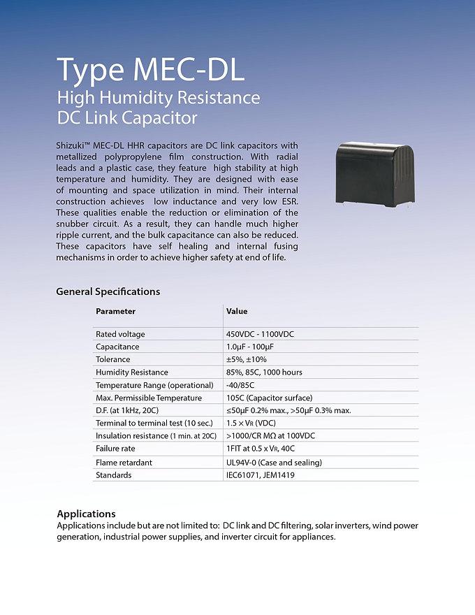ASC MEC-DL High Humidity Series Film Capacitors