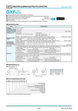 Nippon Chemi Con GXF Series Aluminum Electrolytic Capacitors