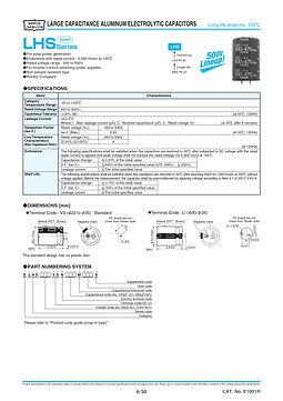 Nippon Chemi Con LHS Series Aluminum Electrolytic Capacitors