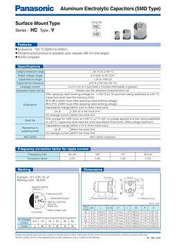 Panasonic HC Series Aluminum Capacitors