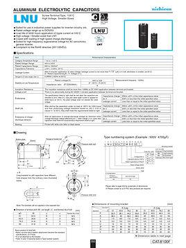 Nichicon LNU Series Aluminum Capacitors