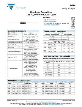 Vishay 516D Series Aluminum Electrolytic Capacitors