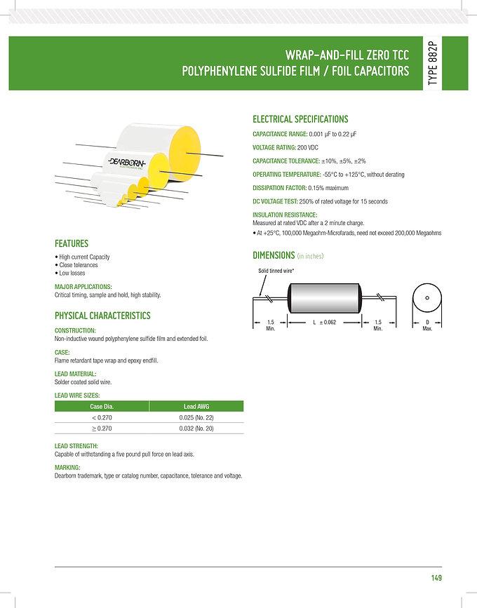 Exxelia 882P Series Plastic Film Capacitors