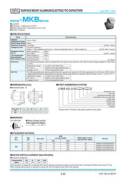 Nippon Chemi Con MKB Series Aluminum Electrolytic Capacitors