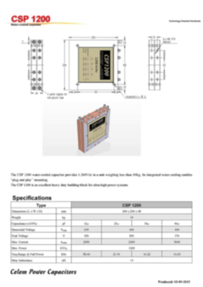 Celem CSP 1200 Series Film Capacitors