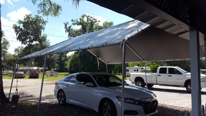 20x20 Grey Canopy