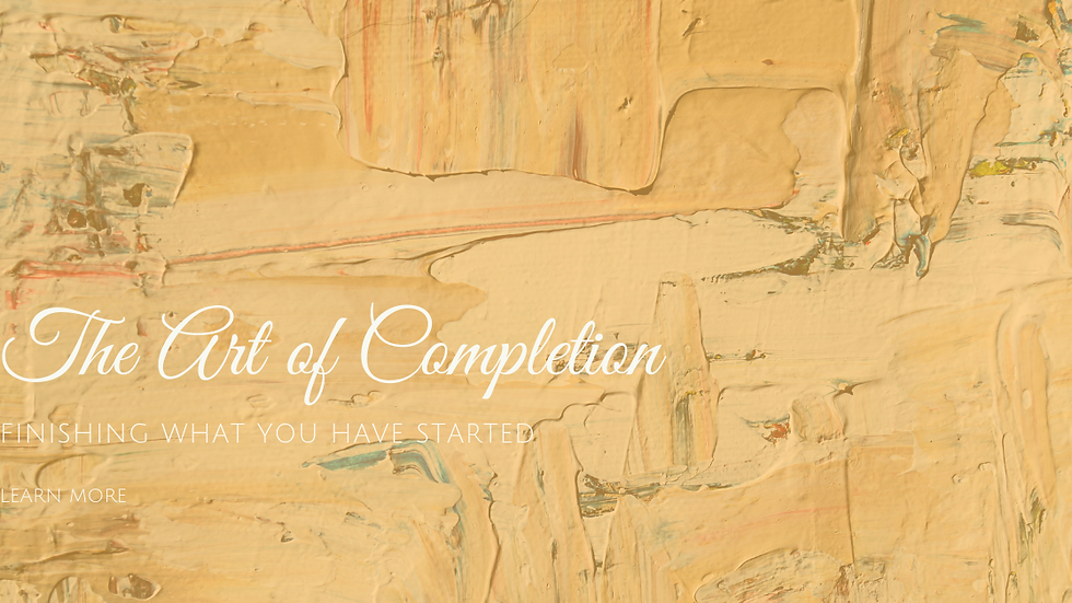 The Art of Completion