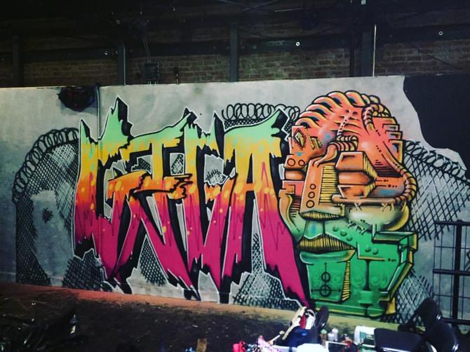 Mural at Flightdeck
