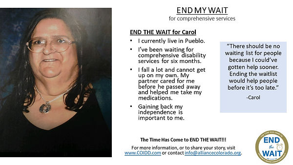 END MY WAIT Story Carol Pueblo county.jp