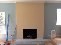 Stacked Stone Fireplace: BEFORE