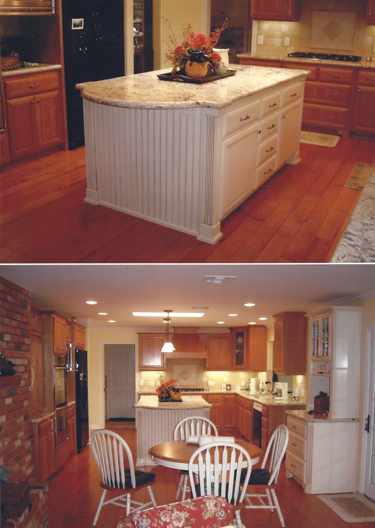 Cherry-Red Country Kitchen Remodel