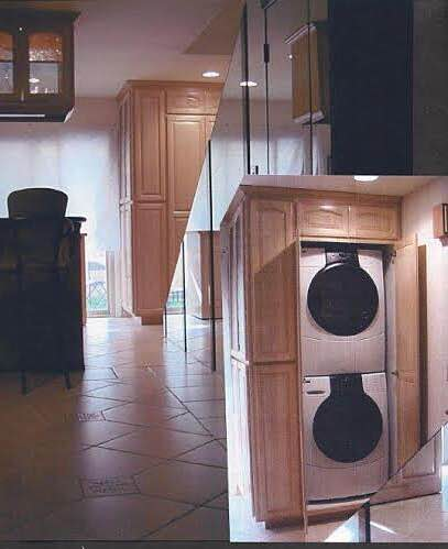 An Enclosed Laundry Space