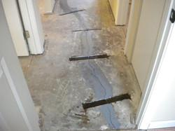 Concrete Floor Repair: BEFORE