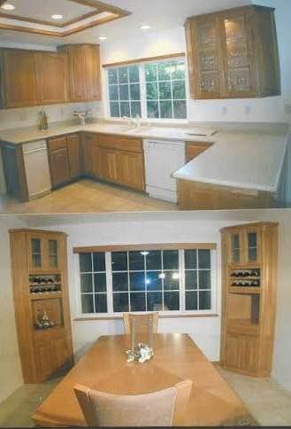 Custom Blue Tile Kitchen: BEFORE