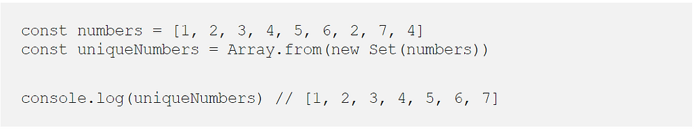 const numbers