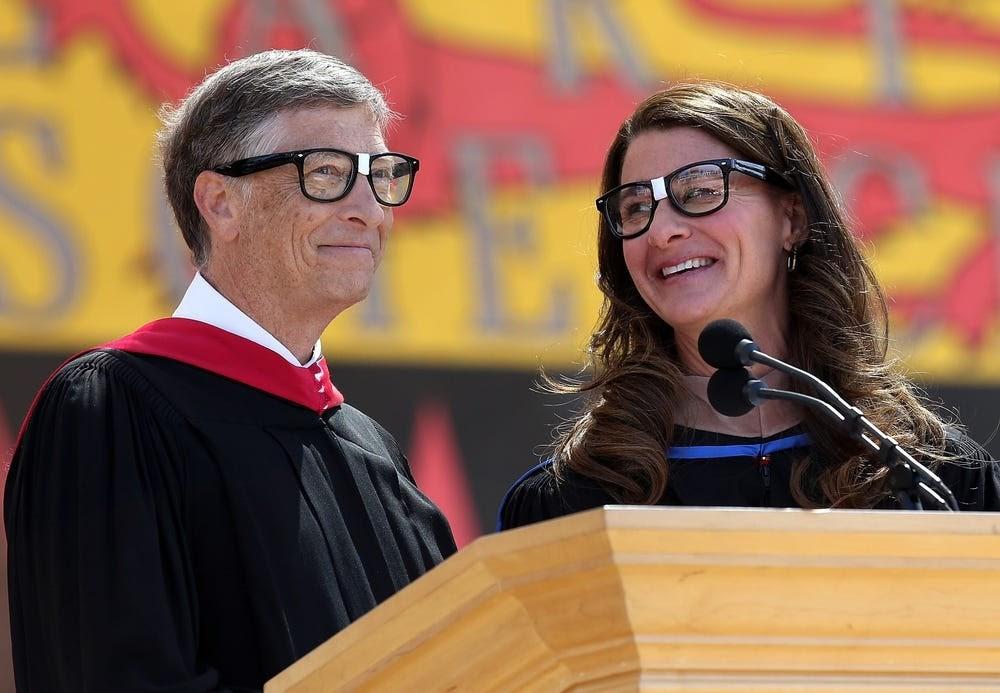 Bill Gates tại buổi lễ trao giải