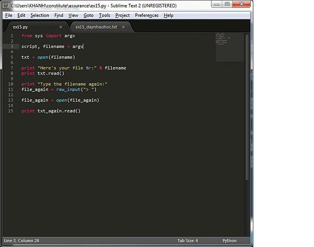 Lỗi thực thi trong Python