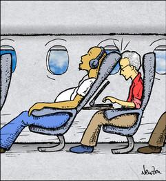 Bob on a plane