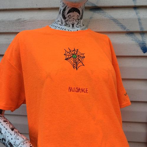 nuisance happy spider web tee