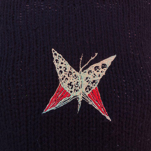 butterfly on my sweater