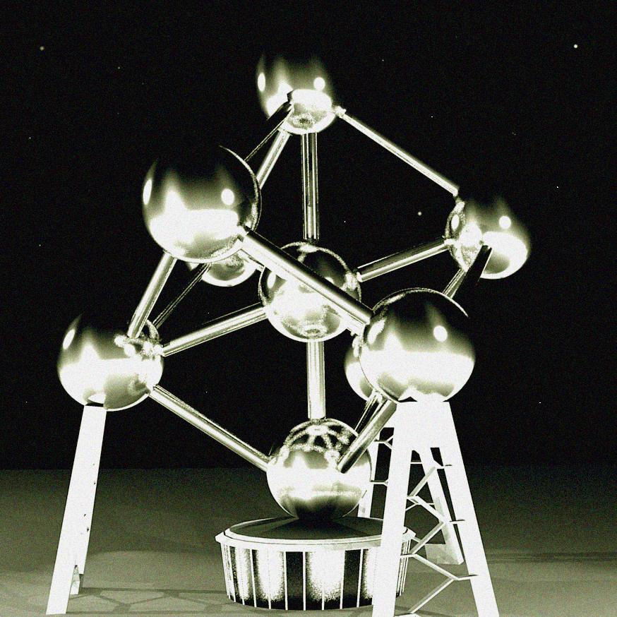 Représentation 3D de l'Atomium